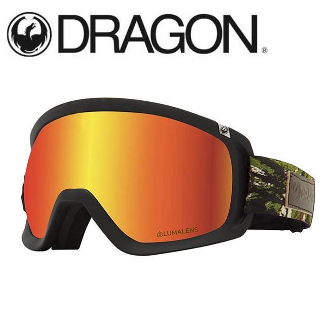 DRAGON ドラゴン D3 ICON CAMO/LUMALENS J. 赤 ION 【2020/ゴーグル/日本正規品/ジャパンフィット】