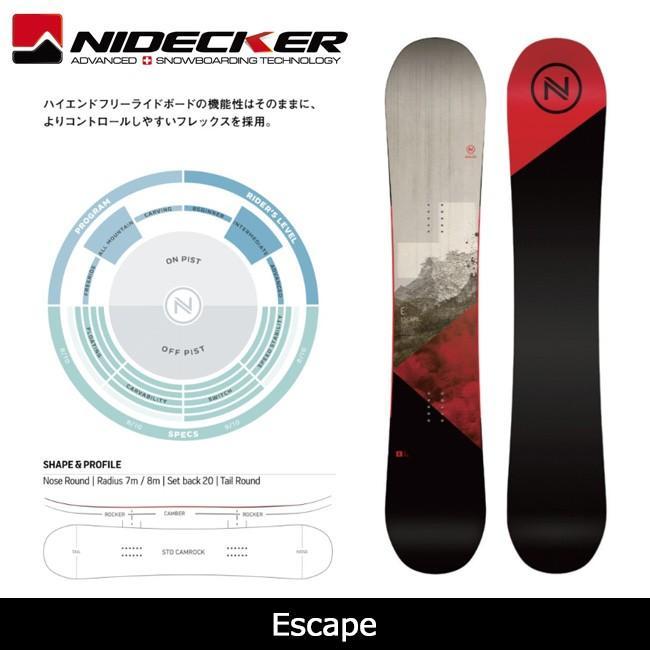 【お買得】 2018 スノーボード NIDECKER 2018 ナイデッカー スノーボード NIDECKER Escape【板】日本正規品, 株式会社ディスカウントアクア:4db2e70f --- airmodconsu.dominiotemporario.com