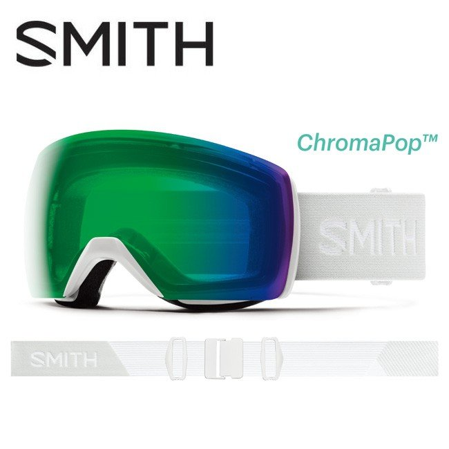 珍しい 2020 スミス SMITH OPTICS Skyline XL White Vapor CP Everyday Green Mirror 010260072 【ゴーグル/日本正規品/ジャパンフィット/アジアンフィット】, キタムラヤマグン 613766fa