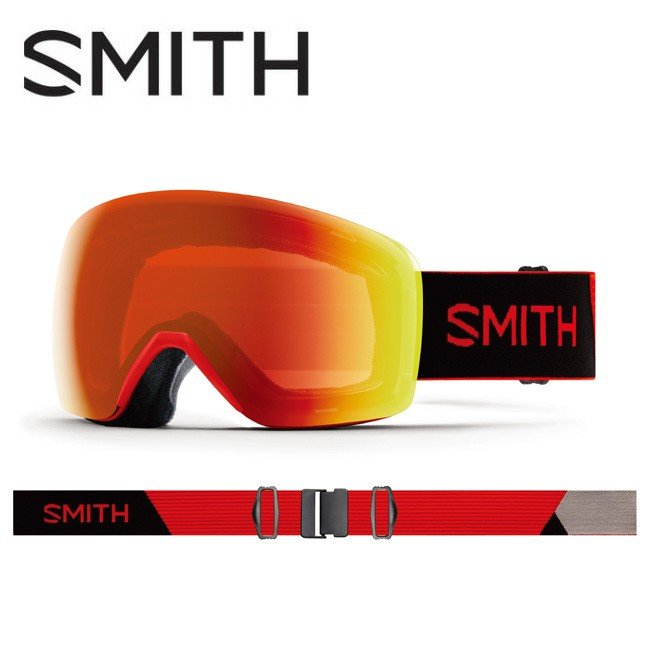 人気カラーの 2020 スミス SMITH OPTICS Skyline Rise CP Everyday Red Mirror 010260082 【ゴーグル/日本正規品/ジャパンフィット/アジアンフィット】, Planet-C プラネットシー 392d01cf