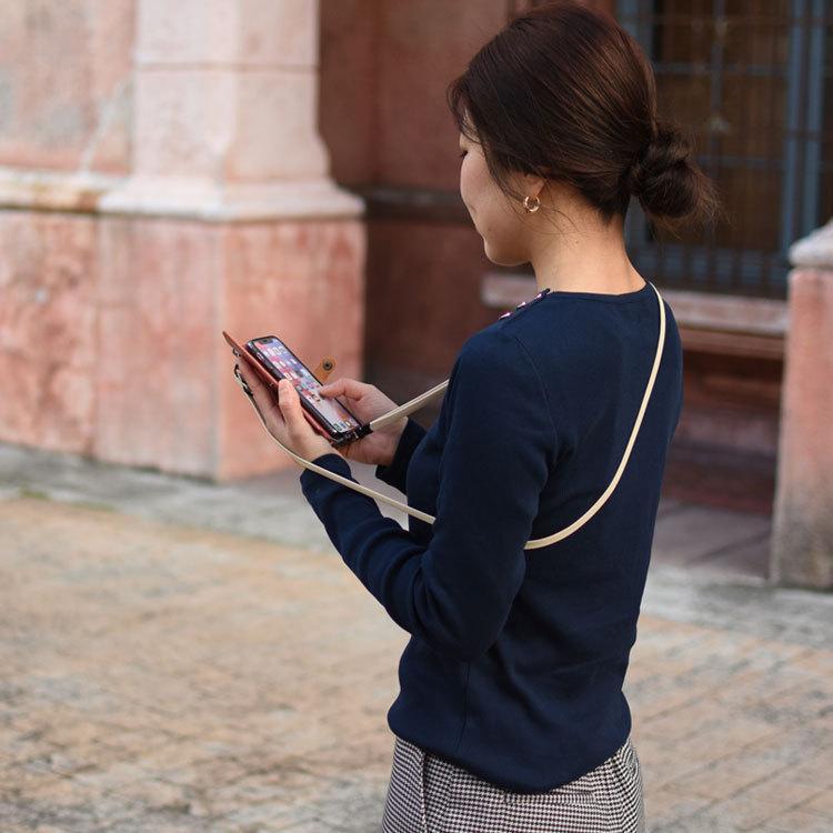 スマホ ストラップ 2way ショルダーストラップ ネックストラップ 携帯電話 スマートフォン 落下防止 アクセサリー ハンドメイド 斜め掛け 首かけ|highcamp|12