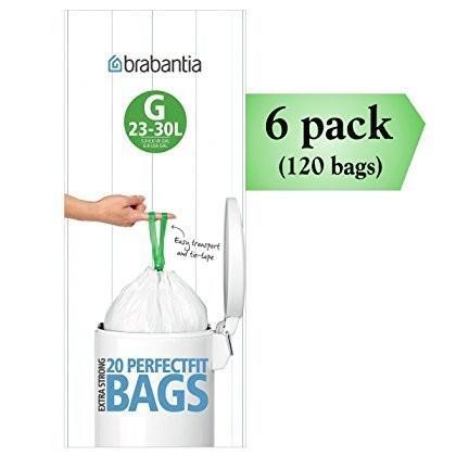 ブラバンシア パーフェクトフィット G 30リットル ゴミ袋 ~ 20 枚入り(6パック)