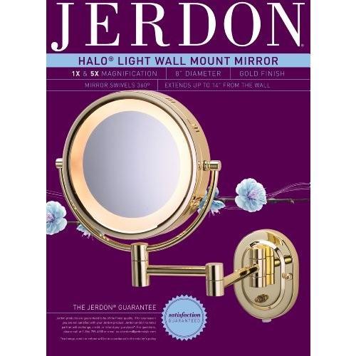 Jerdon Jerdon HL65G両面ウォールはブラス¥u200b¥u200bで照光ミラーのマウント