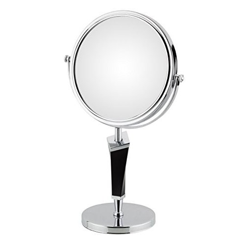 Aptations 80735 5X & & 1X Helix Mirror Free Standing, Chrome & 黒