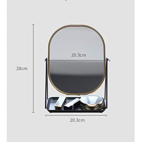 JTWJ JTWJ 美容ミラーデスクトップミラーデスクトップトレイミラー20.3×28cm