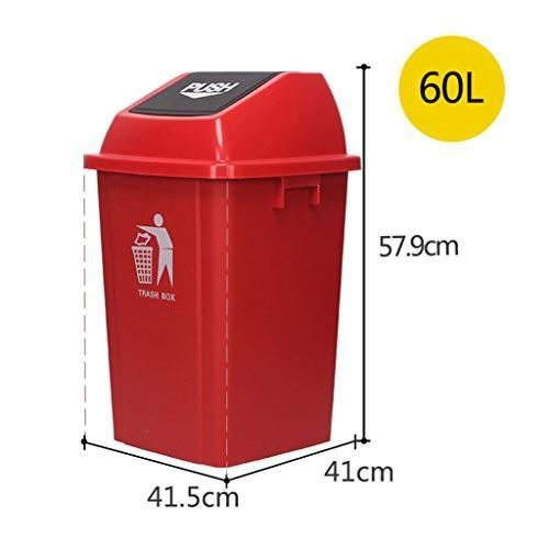 大きなゴミ箱、屋外/モール/レストラン/フリッププラスチックスクエアチューブゴミ箱は、ホームフリップゴミ回収箱をクリーニングすることができます