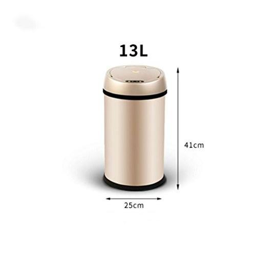 ゴミ箱 自動インテリジェント誘導ごみの家庭の充電ヨーロッパの創造的な無料ペダルゴミトイレのリビングルームのごみ(9L、13L) (色 : 2,