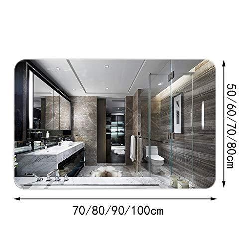 フレームなしの鏡をドレッシングする浴室の鏡トイレの洗面化粧台のトイレの鏡の鏡 (色 : A, サイズ さいず : 50 * * 70cm)