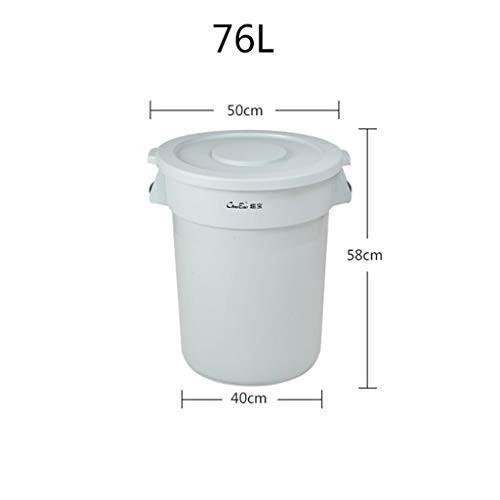 CSQ 屋外のゴミ箱、クリエイティブモールのスーパーマーケットの大容量ゴミ箱は、ラウンドカバーのゴミ箱は、リサイクル収納桶76L アウトドア