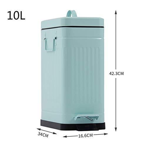 50%OFF IAIZIIAIZI リビングルームのゴミ箱、屋内のミュートゴミ箱の四角いゴミ箱の蓋のゴミ箱のペダルゴミ箱の缶10Lの缶缶, プラザ オンライン:7b7ab9eb --- grafis.com.tr