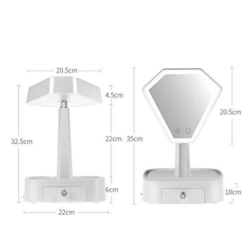 LEDメイクアップミラーメイクアップミラーとライトLEDメイクミラーデスクトップデスクトップバニティミラープリンセスミラーランプ