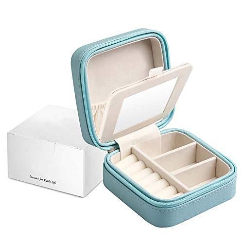 ジュエリーボックス+メイクミラー 美しい ジュエリー収納ボックス ガールフレンド プリンセス ジュエリー、イヤリング、時計に適しています