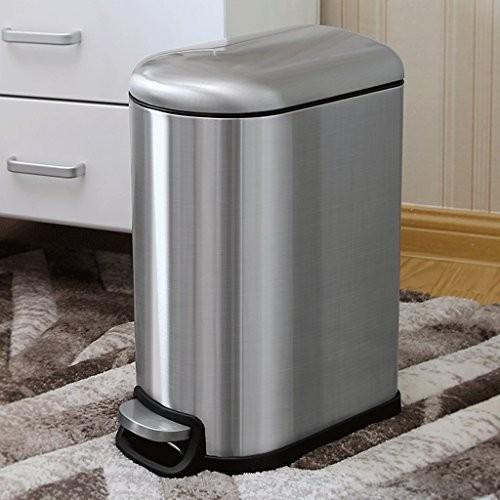 X&YY ステンレススチールゴミ箱缶ペダル家庭用浴室キッチンリビングルームヨーロッパのファッションクリエイティブフリップ長方形ゴミ箱