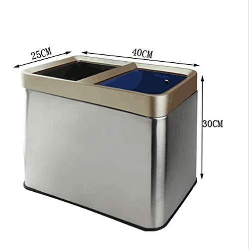 【着後レビューで 送料無料】 圧力リングのリビングルームキッチン乾燥したぬれた分類12Lのゴミ箱とステンレス鋼の厚い二重バレル, スキー専門店 大阪タナベスポーツ:ee71fad7 --- grafis.com.tr