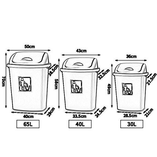 ZXPzZ 大型工業用ゴミ箱30L40L60L屋外ゴミ箱覆われたごみ箱キッチン家庭用教室ごみ箱ごみ箱 -廃棄物収集シリーズ (色 : C, サイズ