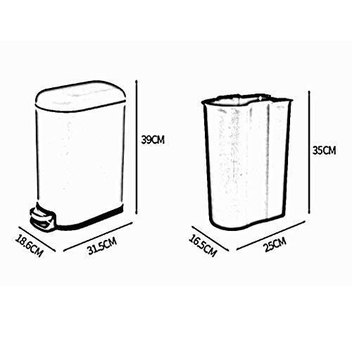 注目のブランド FJH FJH ゴミ箱 : ごみ箱10Lホームリビングルームベッドルームキッチンリッド付きのオフィスバスルームステンレスペダルタイプゴミ箱 (色 (色 : ブラック,, 仲多度郡:3d8f24e0 --- grafis.com.tr