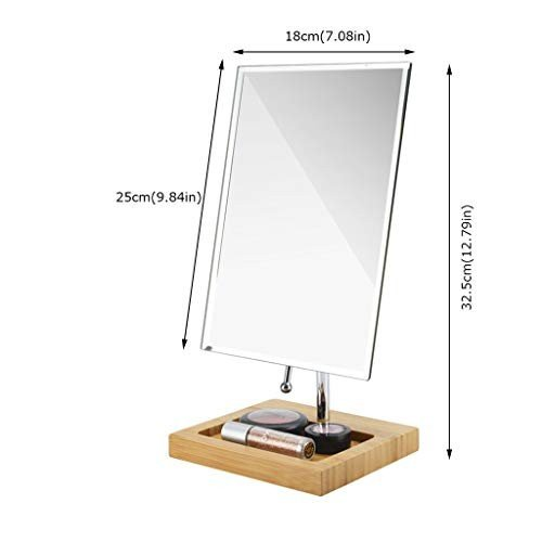 Selm テーブル化粧鏡卓上鏡メイク テーブル化粧鏡卓上鏡メイク スタンドミラー 360度回転 収納 自然光 柔らかい光 折りたたみ式携帯 (サイズ さいず : C)