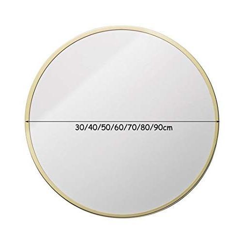 JTWJ バスルームミラー - ウォールマウント化粧ラウンドミラー、金属フレーム、マルチサイズオプション (サイズ さいず : 40 cm 40
