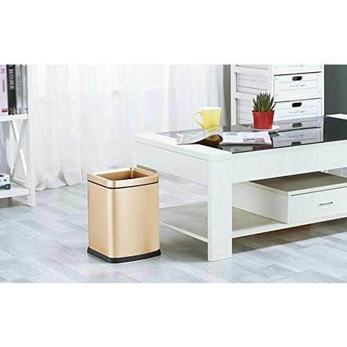 SCHUNlian ステンレス製のごみ箱、居間のキッチンのバスルームのベッドルームのゴミ箱のモールカフェバーの衣類ストアゴミ箱23 * 23 *