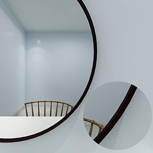 GYX-壁掛鏡 バニティミラー浴室ラウンド壁黒メタルフレームミラー30センチ(12インチ)化粧/装飾シンプルミラー用エントリー寝室のリビングルーム バニティミラー浴室ラウンド壁黒メタルフレームミラー30センチ(12インチ)化粧/装飾シンプルミラー用エントリー寝室のリビングルーム