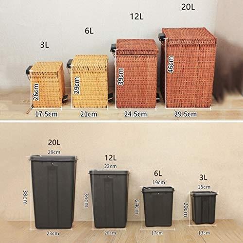 【上品】 ゴミ箱 ふたの屋内ごみ箱が付いている創造的なビンテージの正方形のペダルのタイプ家のゴミ箱はバスケットのゴミごみ箱3 L L/ 6 L/ 12 L/ 6/, シマモトチョウ:e2f02029 --- grafis.com.tr