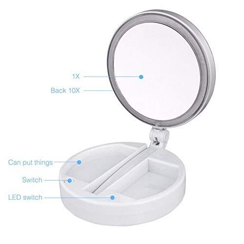 スイッチ化粧鏡で270度回転する10倍LED照明化粧鏡 スイッチ化粧鏡で270度回転する10倍LED照明化粧鏡