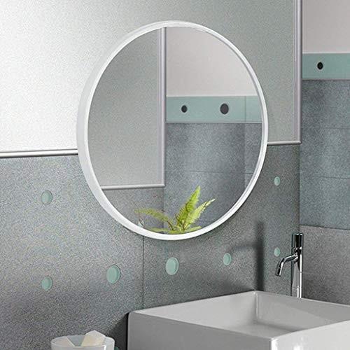 化粧鏡北欧の浴室の壁掛けラウンドミラーウォールミラートイレの装飾吊りミラー(色:白、サイズ:40cm) 化粧鏡北欧の浴室の壁掛けラウンドミラーウォールミラートイレの装飾吊りミラー(色:白、サイズ:40cm)