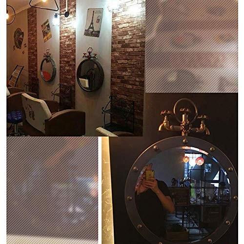 レトロな錬鉄製の鏡、創造的なバロック様式の壁の装飾カフェ/バー/レストランぶら下げミラー(色:錆の色) レトロな錬鉄製の鏡、創造的なバロック様式の壁の装飾カフェ/バー/レストランぶら下げミラー(色:錆の色)