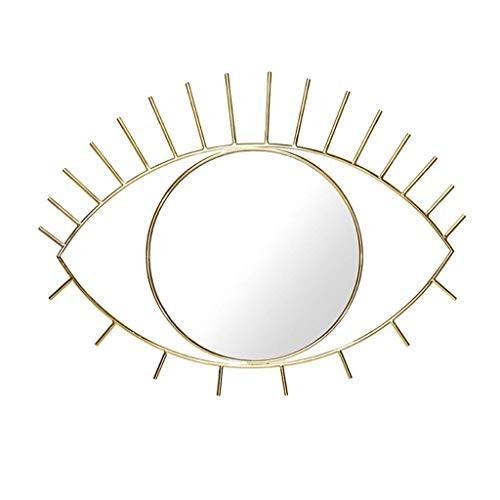 ミラーデスクトップミラー美しい目の形クリエイティブホームデコレーションミラーハンギングミラーデコレーションミラー(色:黒) ミラーデスクトップミラー美しい目の形クリエイティブホームデコレーションミラーハンギングミラーデコレーションミラー(色:黒)