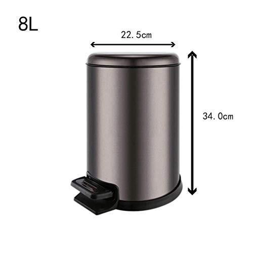 ブランド品専門の ゴミ箱 ゴミ箱 12 L、ゴミ箱ヨーロッパおよび国内二重バレルミュートダウンポータブルハンドルステンレス鋼ペダルタイプ容量5 L/ 8 ゴミ箱 L/ 12 L, ACT WORK'S:7954d34d --- grafis.com.tr