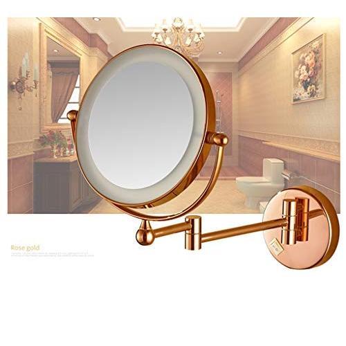 LED照明付きウォールマウントバニティ化粧鏡、6インチ両面拡張可能な7倍拡大鏡シェービングミラー,C,3X LED照明付きウォールマウントバニティ化粧鏡、6インチ両面拡張可能な7倍拡大鏡シェービングミラー,C,3X