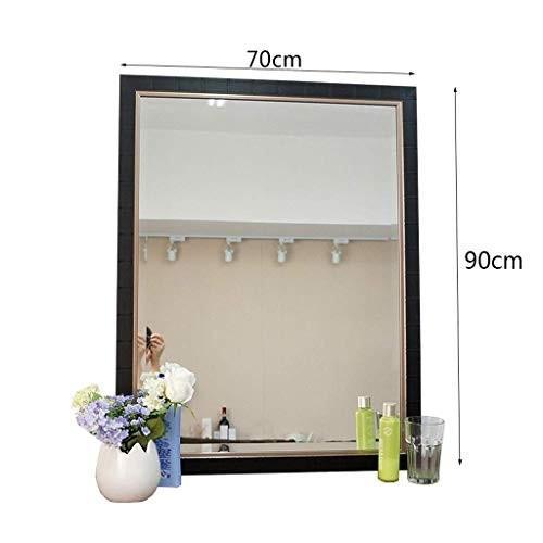 Selm 化粧鏡シンプルモダンモダン浴室、壁掛けロングミラー防曇洗面化粧台ミラー、美容ミラー (Size : : 70X90cm)