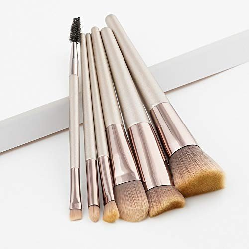 ZHILI 化粧ブラシ6化粧ブラシファンデーションブラシアイシャドウブラシ化粧ツールハイエンド木製ハンドルポータブル化粧ブラシ (Color :