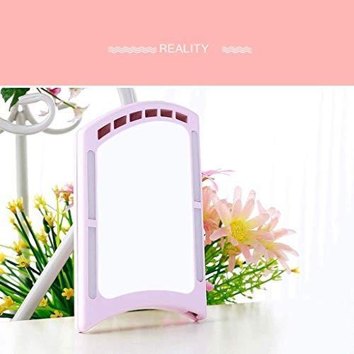 化粧鏡Led、化粧鏡携帯用小型鏡、小型扇風機付き補充鏡付き化粧鏡,ピンク 化粧鏡Led、化粧鏡携帯用小型鏡、小型扇風機付き補充鏡付き化粧鏡,ピンク