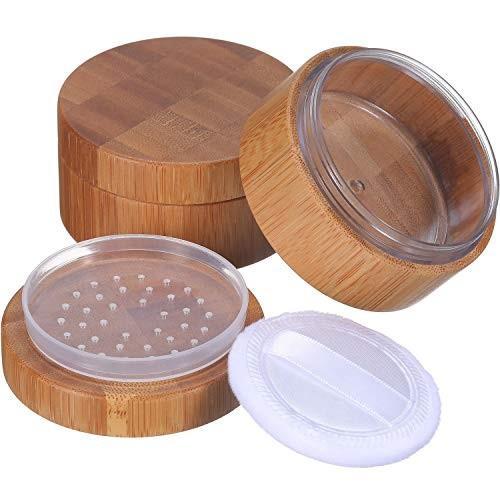 特別価格 Frienda 2 Pack 30 ml Empty Cosmetic 30 Powder Case Bamboo Empty Cosmetic Make-up Loose, キュウラギマチ:0d2d8249 --- sonpurmela.online