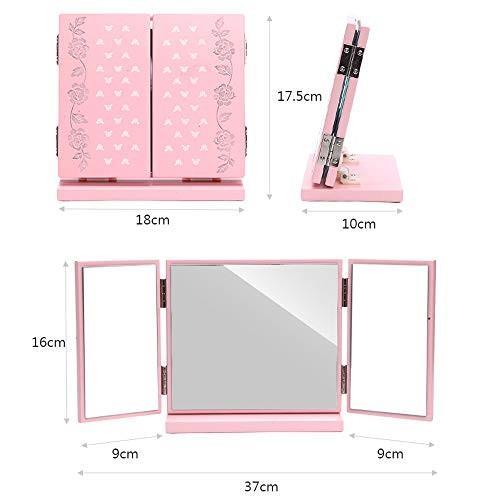 デスクトップポータブル化粧鏡ホーム実用プリンセスドレッシングミラークリエイティブ折りたたみ式ミラー、女の子のための美しいギフト,ピンク デスクトップポータブル化粧鏡ホーム実用プリンセスドレッシングミラークリエイティブ折りたたみ式ミラー、女の子のための美しいギフト,ピンク