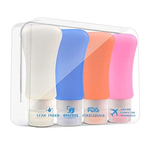 大好き Silicone 4 Travel Bottles - Bottles 4 Pack Travel Bottles Set Set Squeezable Leakproof, j-pia:7203452c --- grafis.com.tr