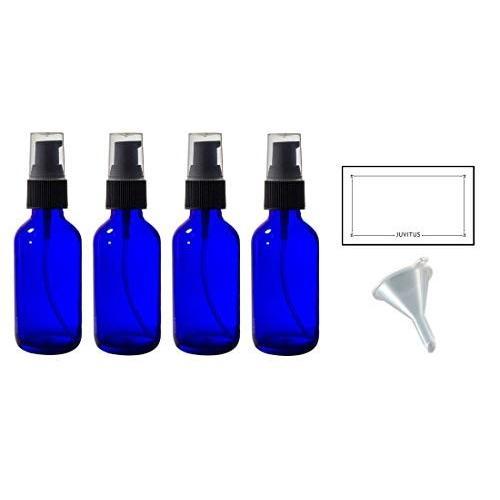 新品入荷 2 oz Cobalt 2 Blue Glass Boston Round Round + Treatment Pump Bottle (4 pack) +, Deepinsideinc.Store:a5210f19 --- sonpurmela.online