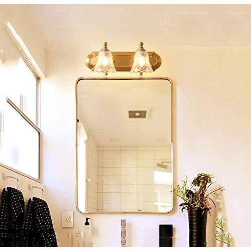 レトロ銅ミラーライト - - ホームバスルームクリスタルウォールランプバスルームミラーキャビネットウォールランプ