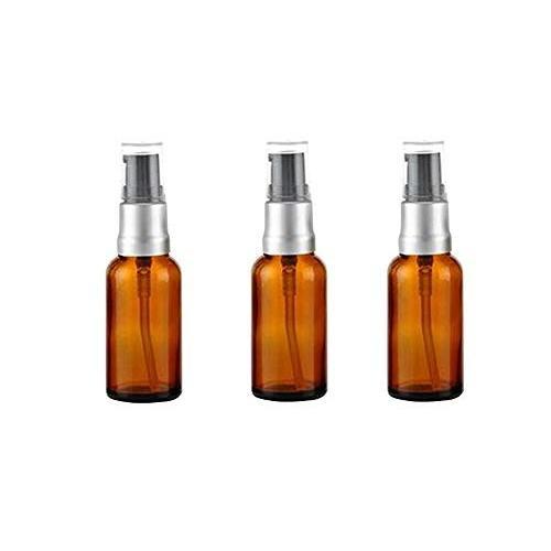 2018新発 Elandy Cosmetic 3PCS -Brown Glass Pump Bottles Pipet Lotion -Brown Cosmetic Lotion Shower, 野田村:117d2a08 --- opencandb.online