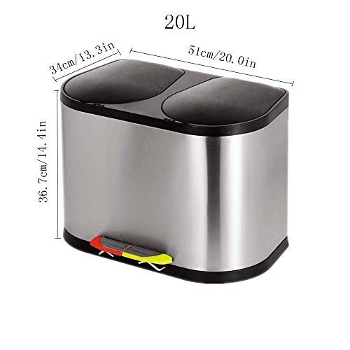 HUIFA HUIFA HUIFA ゴミ箱自宅ペダル20Lステンレスペダルの分類ごみ箱 。 d8c