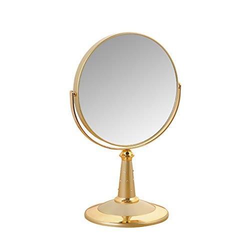 YBJPshop 7インチ化粧鏡、360度回転拡大鏡付き化粧台鏡、4色 美容鏡化粧室バスルーム 美容鏡化粧室バスルーム (Color : ゴールド)