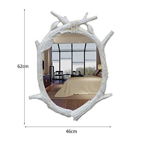 ChengChengHAO 環境にやさしい樹脂壁掛け防水耐熱性耐摩耗性無色2色2種類の場合に適し各種レトロ装飾ミラー 鏡 鏡 鏡 (Color : 534