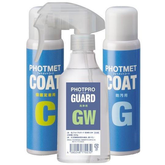 フォトメットコートセット(GW,C,G 各1本)光で除菌と消臭|hikari-club