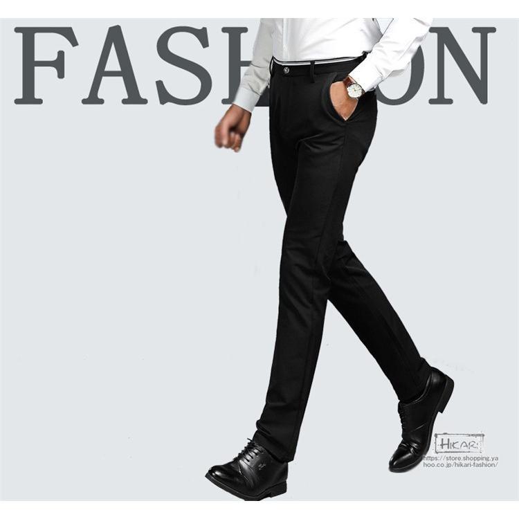 スキニーパンツ メンズ スラックス チノパン ビジネス ボトムス ストレッチ スリム 美脚 フォーマル 通勤 父の日|hikari-fashion|04