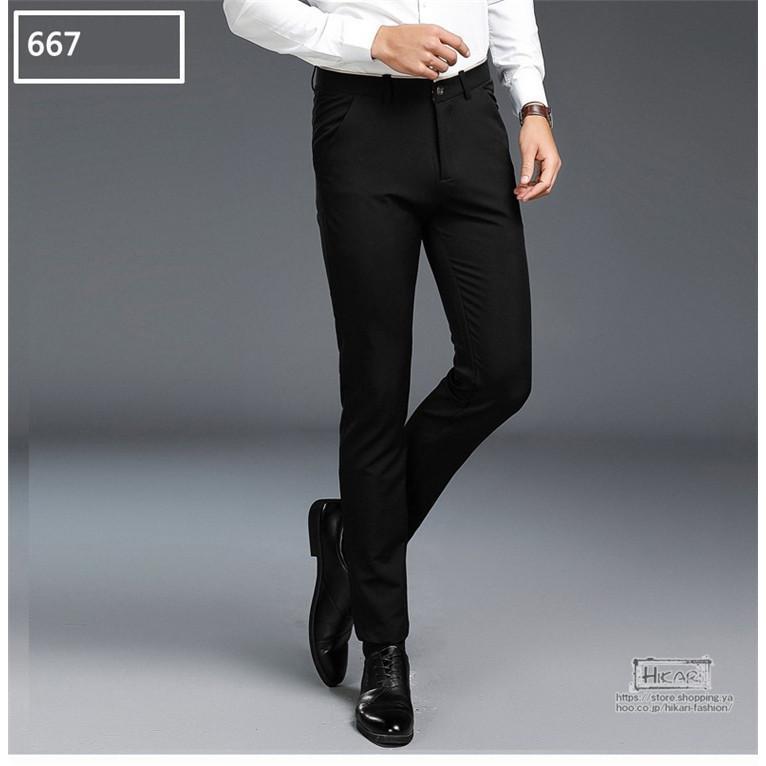 スキニーパンツ メンズ スラックス チノパン ビジネス ボトムス ストレッチ スリム 美脚 フォーマル 通勤 父の日|hikari-fashion|08