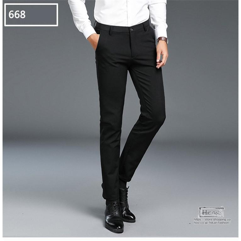 スキニーパンツ メンズ スラックス チノパン ビジネス ボトムス ストレッチ スリム 美脚 フォーマル 通勤 父の日|hikari-fashion|09