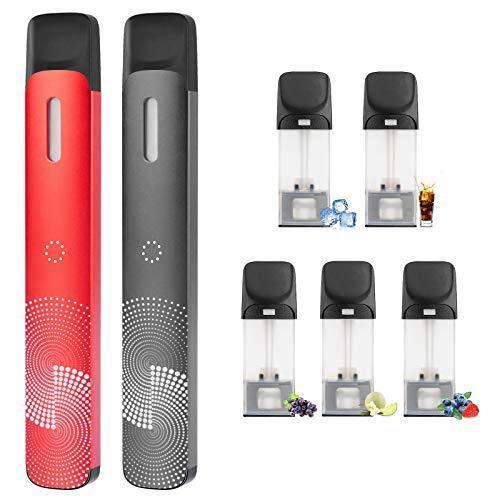 在庫一掃売り切りセール 電子タバコ スターターキット バッテリー本体×2 フレーバーカートリッジ×5 大容量450mAh 吸い応え抜群 S2-es型 USB充電器付き NIC 最新