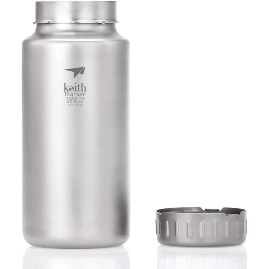 900ml1200ml 大容量 Keith 純チタン 広口 水筒 アウトドア用 コーヒー お茶 酒用 ボトル 軽量・錆びない 登山 スポーツ