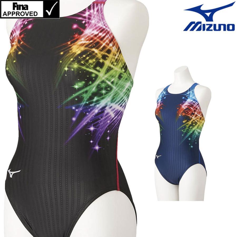 ミズノ セール特別価格 MIZUNO 競泳水着 レディース fina承認 高品質 ローカット マスターズバック N2MA1745 STREAM 2021年秋冬モデル ストリームフィットA ACE